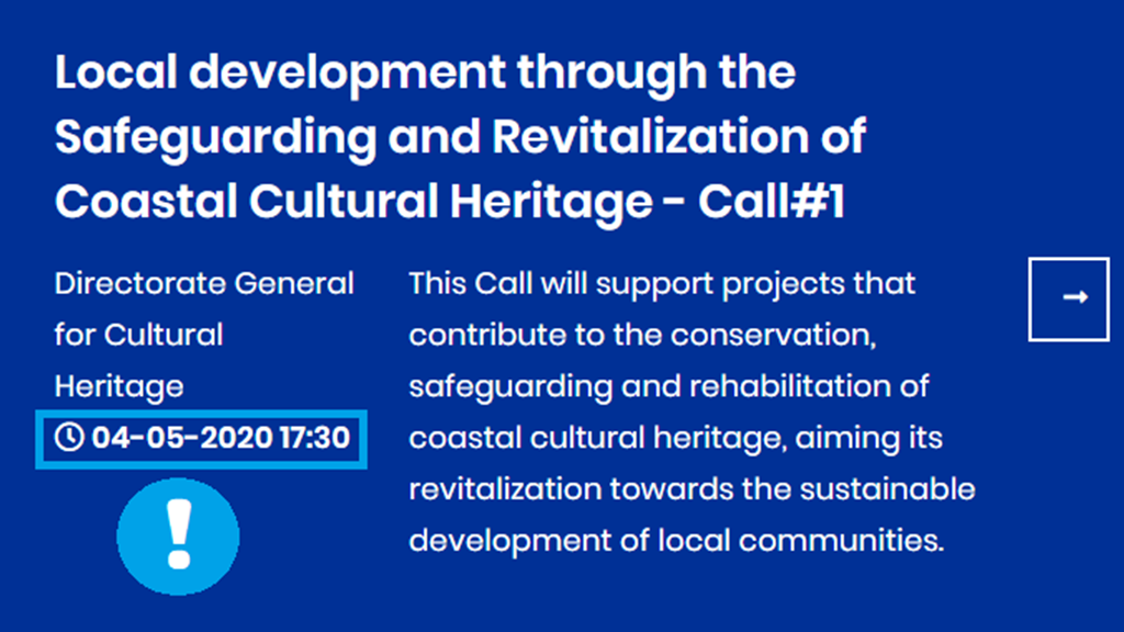 New submission date for applications to Coastal Cultural Heritage