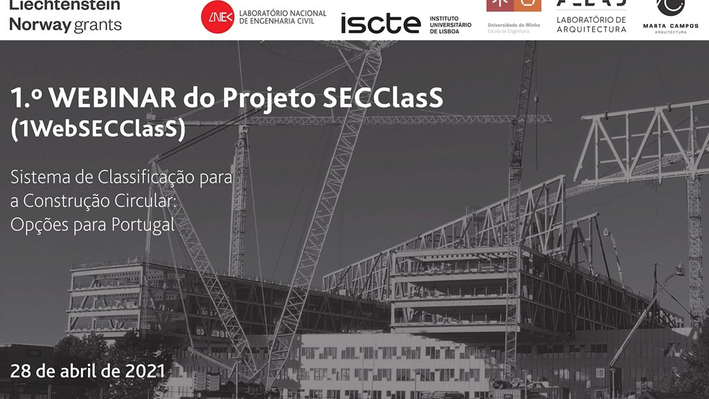 1st SECClasS Webinar - A Classification System for Circular Construction: Options for Portugal